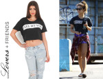 Vanessa Hudgens' Lovers + Friends 'Feel My Vibe' Cropped Tee