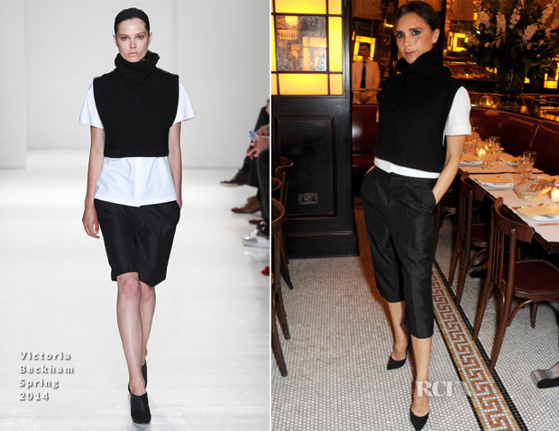 Victoria Beckham In Victoria Beckham - Vogue UK London Fashion Week Dinner Party