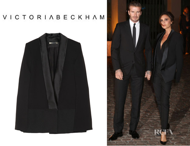 Victoria Beckham's Victoria Beckham Silk And Wool Cape