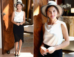 Virginie Ledoyen In Chanel - Chopard Photocall