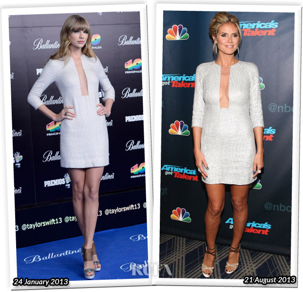 Who Wore Kaufmanfranco Better Taylor Swift or Heidi Klum