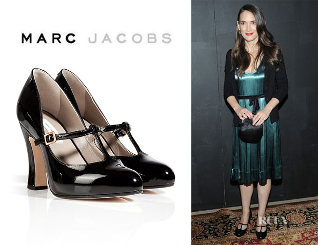 Winona Ryder's Marc Jacobs Patent T-Strap 'Mary-Janes' Heels