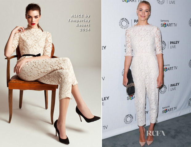 Yvonne Strahovski In ALICE by Temperley - PaleyFestPreviews Fall TV event 'Fall Farewell 'Dexter'
