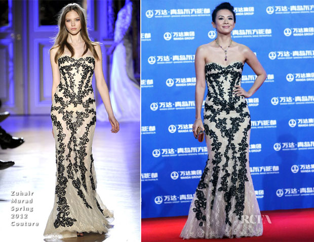 Zhang Ziyi In Zuhair Murad Couture - Qingdao Oriental Movie Metropolis Ceremony