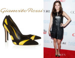 Zoey Deutch's Gianvito Rossi Two-Tone Pumps
