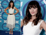 Zooey Deschanel In Oscar de la Renta - 2013 Fox Fall Eco-Casino Party