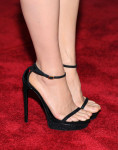 Lucy Liu's Saint Laurent sandals