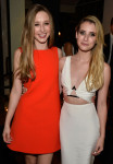 Taissa Farmiga in Rebecca Minkoff and Emma Roberts in Cushnie et Ochs
