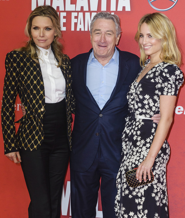Michelle Pfeiffer in Alexander McQueen and Dianna Agron in Carolina Herrera