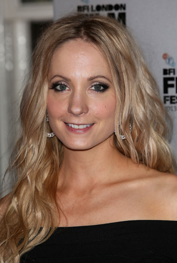 Joanne Froggatt in Herve Leger and John Rocha