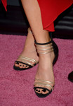 Kate Beckinsale's Casadei bi-colour sandals
