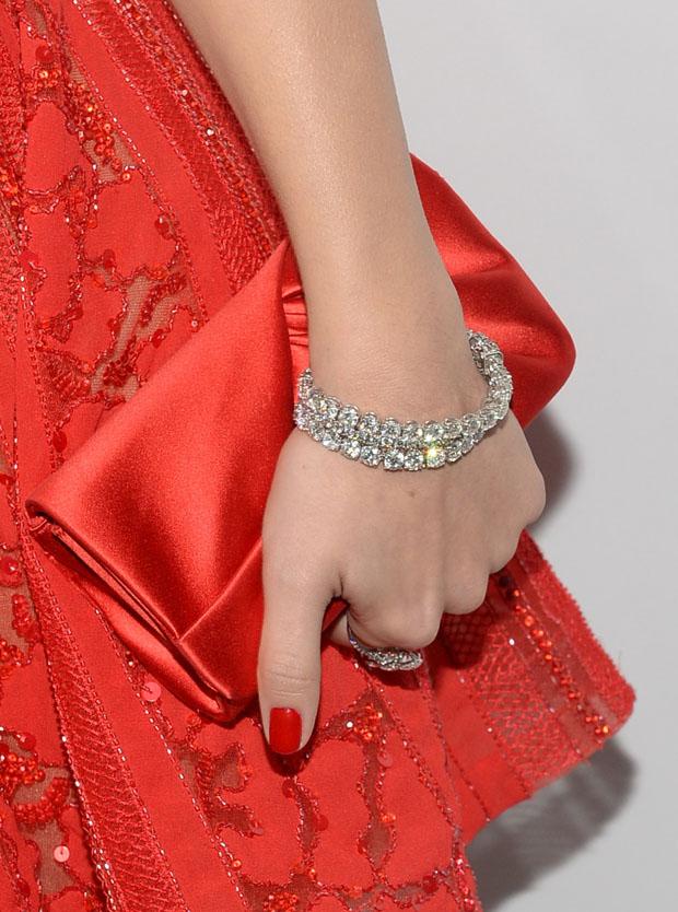 Emmy Rossum's clutch