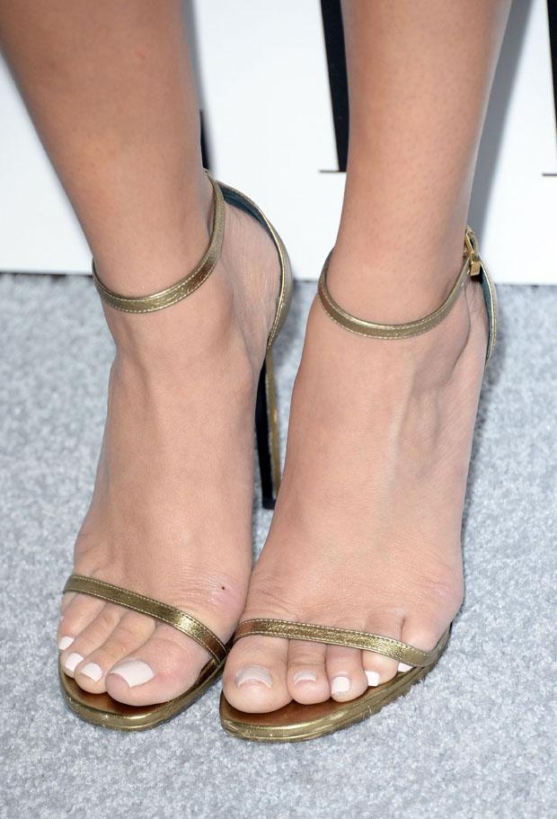 Ashley Madekwe's Saint Laurent sandals