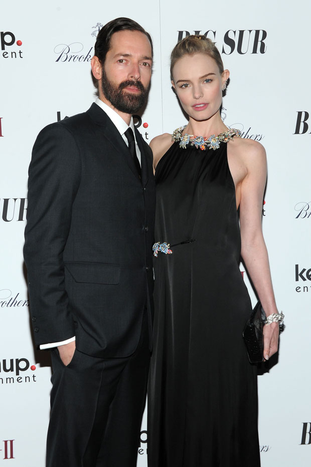 Michael Polish and Kate Bosworth in Christopher Kane