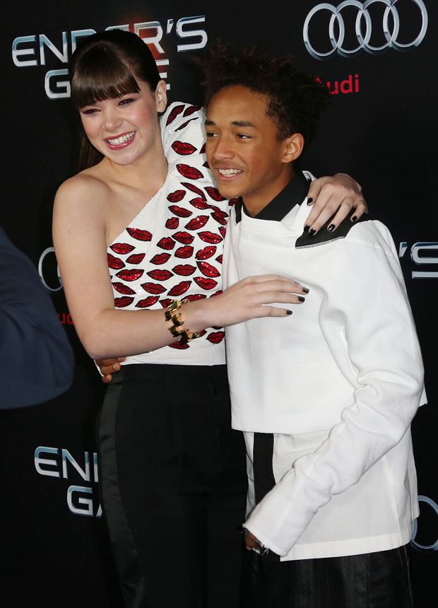 Hailee Steinfeld and Jaden Smith in Saint Laurent