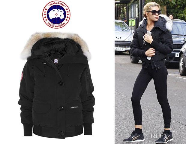 Abbey Clancy's Canada Goose Chilliwack Coyote-Trimmed Coat