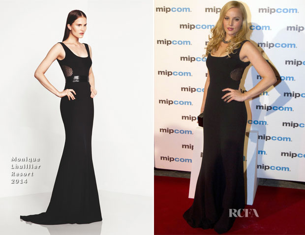 Abbie Cornish In Monique Lhuillier - MIPCOM Party