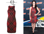 Adelaide Kane's McQ by Alexander McQueen Tartan Print Fitted Dress