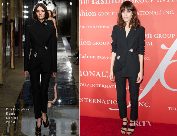 Alexa Chung In Christopher Kane - 30th Annual Fashion Group International Night Of Stars