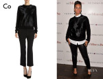 Alicia Keys' Co Calf Hair Front Sweater
