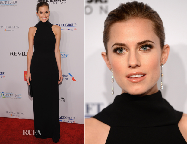 Allison Williams In Christian Dior - Elton John AIDS Foundation's 12th Annual 'An Enduring Vision' Benefit Gala