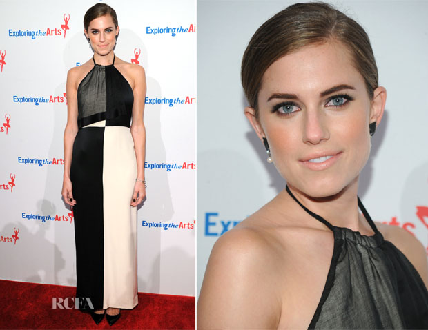 Allison Williams In Geoffrey Beene - 7th Annual Exploring The Arts Gala