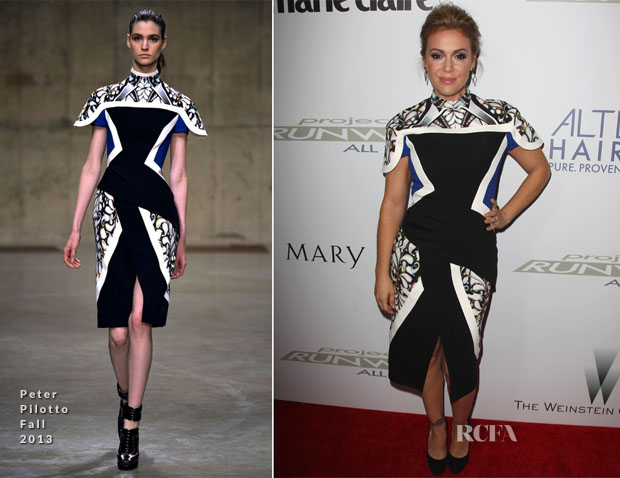 Alyssa Milano In Peter Pilotto - Project Runway All Stars Season 3 Premiere Party