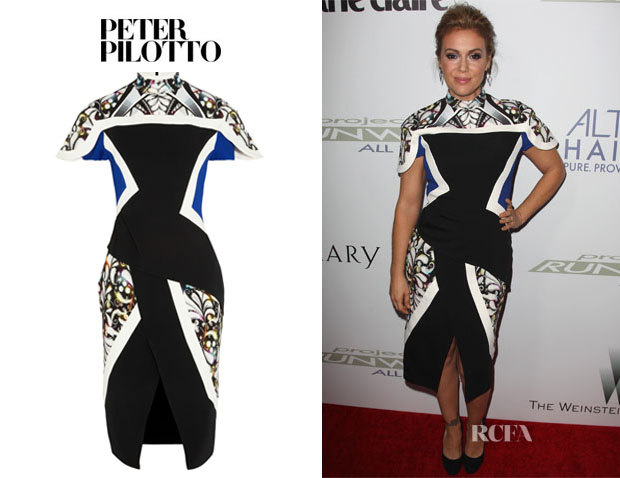 Alyssa Milano's Peter Pilotto 'Farah' Dress