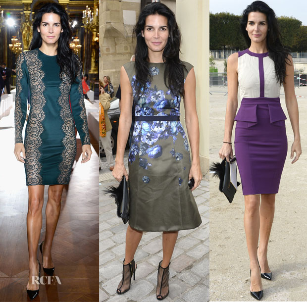 Angie Harmon Paris Fashion Week