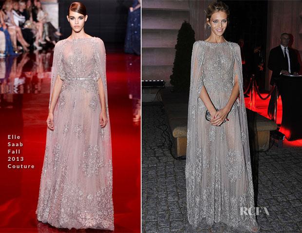 Anja Rubik In Elie Saab Couture -  'Apart' Anniversary