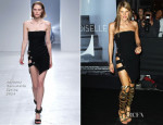 Anna Dello Russo In Anthony Vaccarello - 'Mademoiselle C' Party