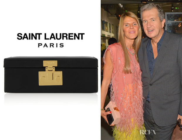 Anna Dello Russo's Saint Laurent Micro Mellettes Leather Box Clutch