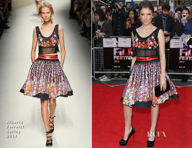 Anna Kendrick In Alberta Ferretti - 'Drinking Buddies' London Film Festival Premiere