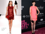 Anne Hathaway In J. Mendel - Elyse Walker's Pink Party