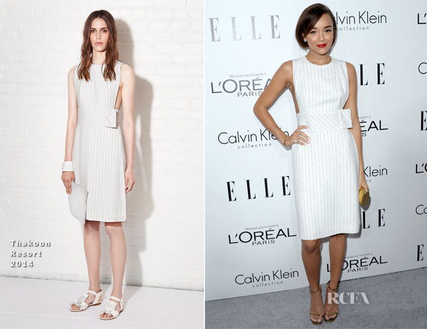 Ashley Madekwe In Thakoon - ELLE's 20th Annual Women In Hollywood Celebration