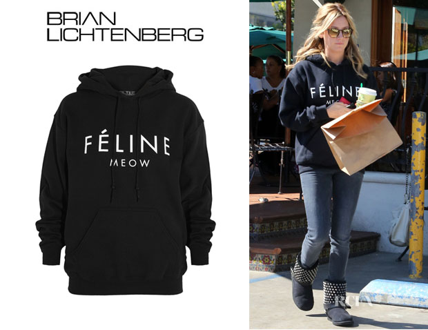 Ashley Tisdale's Brian Lichtenberg 'Féline' Hooded Sweatshirt