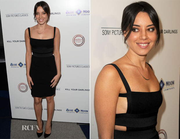 Aubrey Plaza In Pierre Balmain - 'Kill Your Darlings' LA Premiere