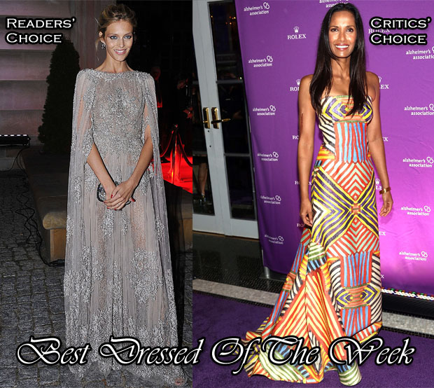 Best Dressed Of The Week - Anja Rubik In Elie Saab Couture, Padma Lakshmi In Naeem Khan