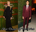 Best Dressed Of The Week - Charlize Theron In Alexander McQueen & Dev Patel In Ferragamo