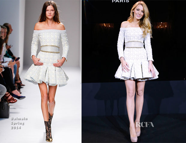 Blake Lively In Balmain - Announcement Of The New Face Of L'Oreal Paris