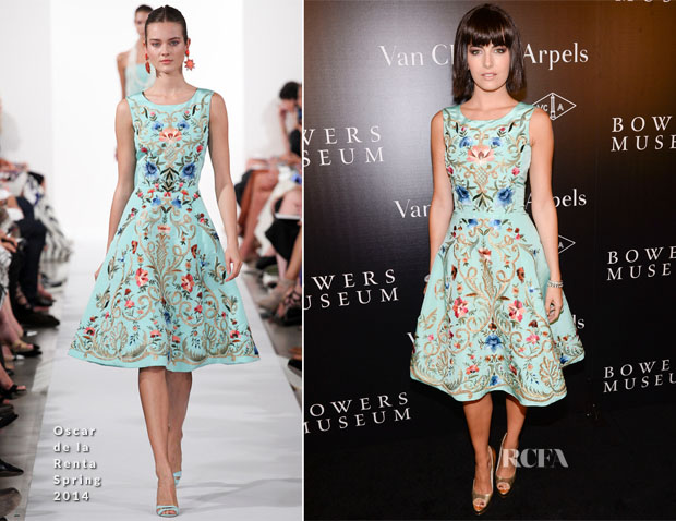 Camilla Belle In Oscar de la Renta - A Quest for Beauty The Art Of Van Cleef & Arpels