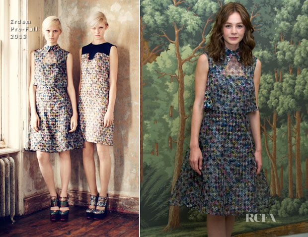 Carey Mulligan In Erdem - 'Inside Llewyn Davis' Press Conference