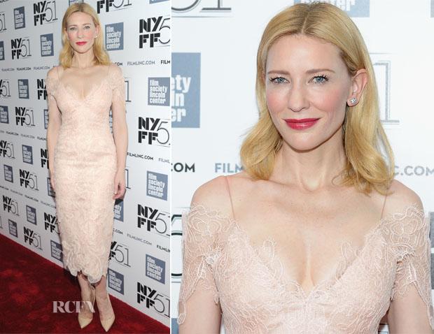 Cate Blanchett In Armani Privé - 51st New York Film Festival Gala Tribute To Cate Blanchett