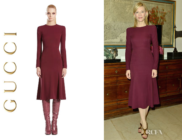 Cate Blanchett's Gucci Long Sleeve Dress1