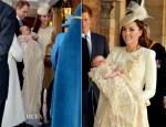 Catherine, Duchess of Cambridge In Alexander McQueen - HRH Prince George Of Cambridge Christening