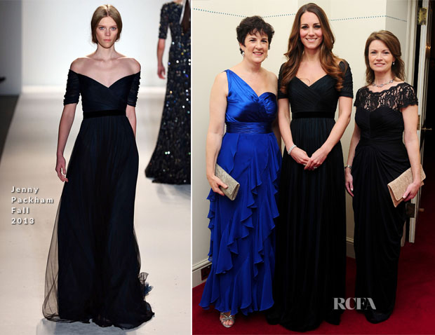 Catherine, Duchess of Cambridge In Jenny Packham - 100 Women in Hedge Funds Gala Dinner