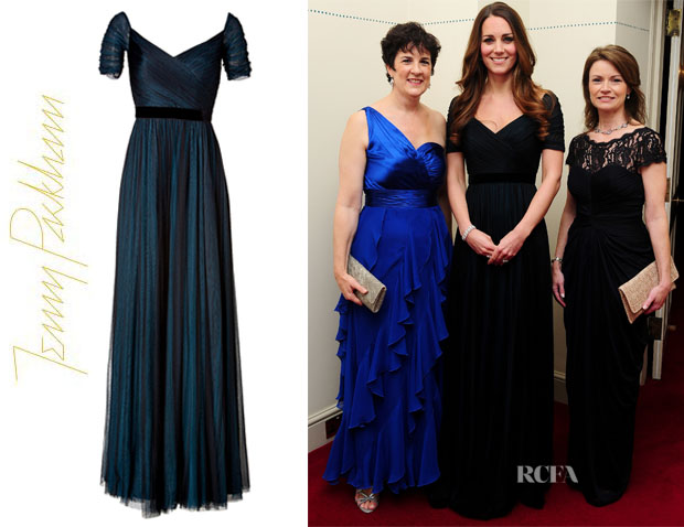 Catherine, Duchess of Cambridge's Jenny Packham Silk Gown