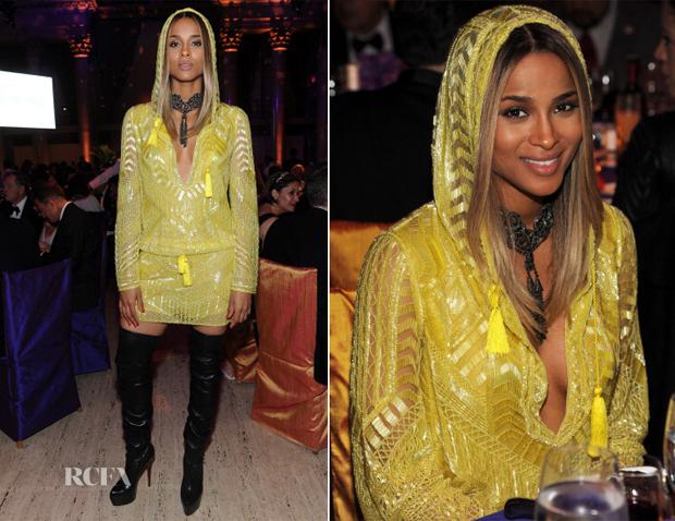 Ciara In Emilio Pucci - Elton John AIDS Foundation's 12th Annual 'An Enduring Vision' Benefit Gala