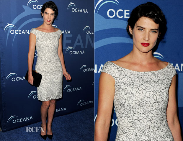 Cobie Smulders In Christian Dior - Oceana Partners Award Gala