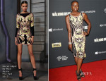 Danai Gurira In Hervé Léger By Max Azria - 'The Walking Dead' Season 4 Premiere